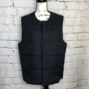 Men's Adidas Black Snap Front Vest - medium